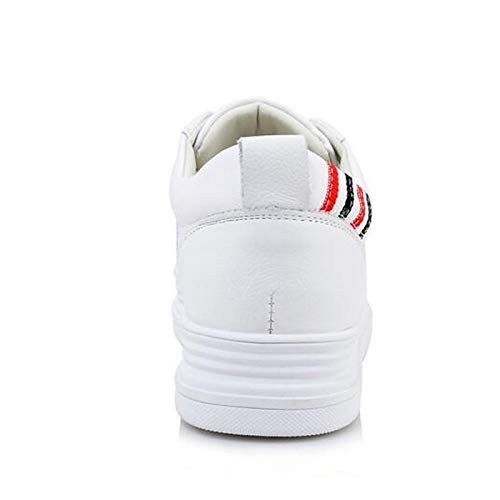 Closed ZHZNVX Spring de Toe Sneakers Comfort Blanco Nappa Mujer White Zapatos Heel Flat Leather wwvqr1