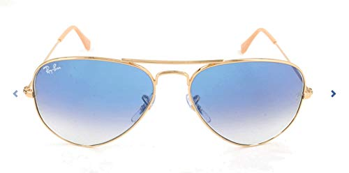 Ray-Ban RB3025 Aviator Sunglasses, Gold/Blue Gradient, 62 mm (58 002 Aviator 3025)