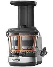 Kenwood Slow Juicer KAX720PL Accessoires voor Kenwood keukenmachines, elektrische sapcentrifuge met 400 ml sapreservoir en anti-druppelfunctie, zilvergrijs