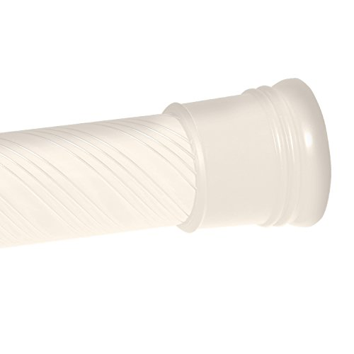 Zenna Home 804AA, Tension Swirl Shower Curtain Rod, 44 to 72-Inch, Bone