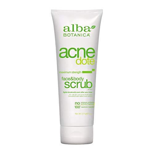 Alba Botanica Acnedote Maximum Strength Face & Body Scrub, 8 oz. (Best Cleanser For Body Acne)