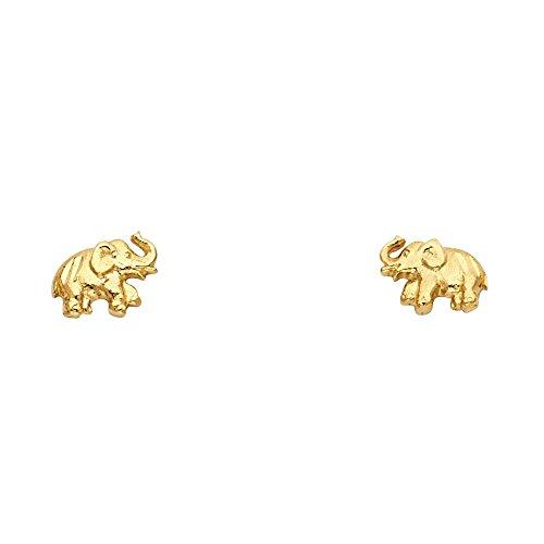 Elephant Gold Earrings - 9