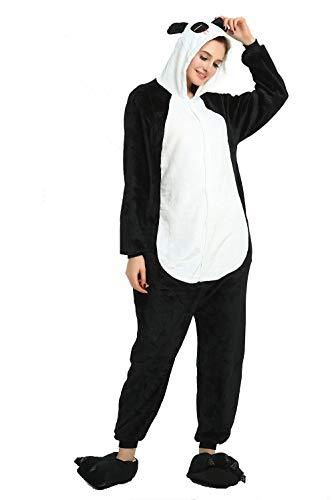 Unisex Adult Pajamas - Plush One Piece Cosplay Panda Animal Costume (L, Panda) -
