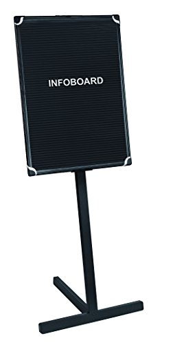 MasterVision 18 x 24 Inches Letter Board Stand with Aluminum Frame, Black (SUP1001) by MasterVision
