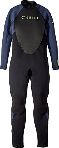 O'Neill Youth Reactor-2 3/2mm Back Zip Full Wetsuit, Black/Slate, 12 ()