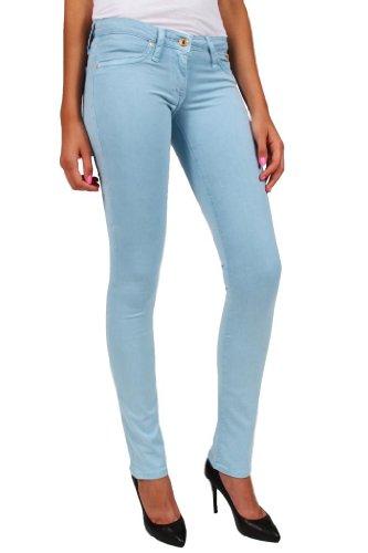 - Robin's Jean Women's Marilyn Stretch Poplin Straight Leg-29-Dull Blue