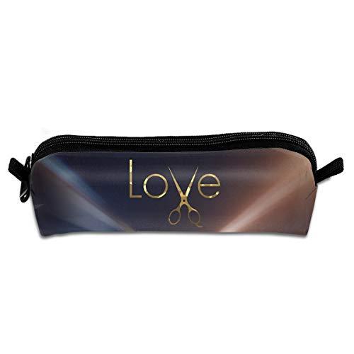 Price comparison product image Camp Ursula Love Dresser Hair Stylist Scissors Pen Pencil Case Zipper Pouch Storage Bag
