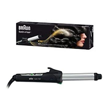 Braun Satin Hair 7 CU710 - Rizador de pelo con tecnología iónica, tenacillas con control de temperatura personalizado, color negro