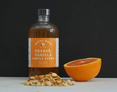 Royal Rose Orange-Vanilla Simple Syrup 8oz