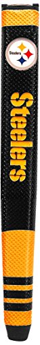 (Team Golf NFL Pittsburgh Steelers Golf Putter Grip with Removable Gel Top Ball Marker, Durable Wide Grip & Easy to Control)