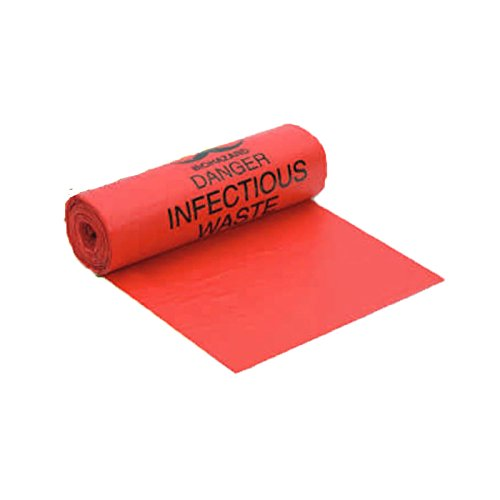 (Berry Plastics Hospi-TuffLDPE Biohazard Printed Can Liner with Coreless Roll, 36