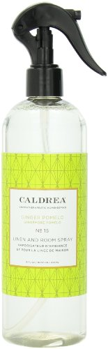 Caldrea Linen and Room Spray, Ginger Pomelo, 16 Fluid Ounce (Pack of ()