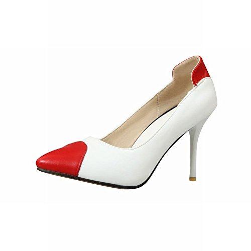 Scarpe Da Donna Con Tacco Alto E Ciondolo Scarpe Da Donna Con Tacco Alto Rosso + Bianco