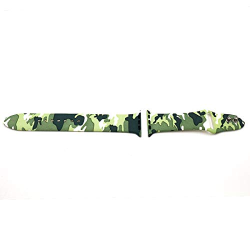 Eletespt 40mm Straps ompatible with Apple Watch Series 4 3 2 1 Bands, Sport Durable Accessories Replacement Band Strap for iWatch Men Women 38mm Wristband (Camo 38MM)     by Eletespt (Image #1)