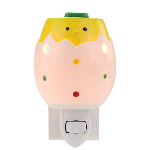 (STAR MOON Plug in Wax Melt Warmer for Home Décor, Pluggable Home Fragrance Diffuser, Translucent, No Flame, with One More Bulb, Baby Chick (Easter Egg) )