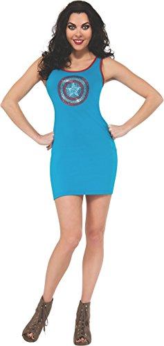 Rubie's Costume Women's Marvel Universe Captain America Rhinestone Tank Dress
