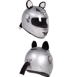 Motorcycle Helmet With Cat Ears - 2