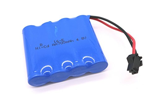 Rc Cars Batteries (RC Car Rechargeable Battery 700mAh 4.8V Ni-Cd AA High Capacity Battery Pack for Four Wheels Race Car)