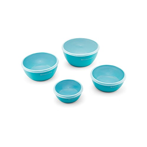 KitchenAid Prep Bowls (Set of 4), Aqua Sky