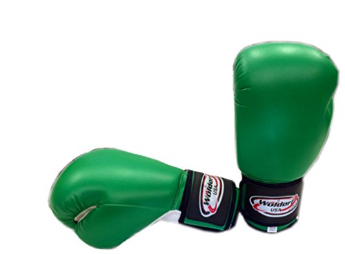 ag Gloves in Vinyl 16oz GREEN (Vinyl Boxing Gloves)