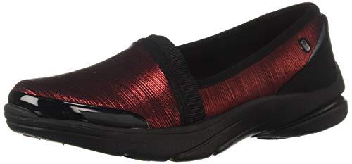 BZees Women's Lollipop Sneaker, red Shimmer Stripes Fabric, 8.5 W - Stripes Sneakers Red Women