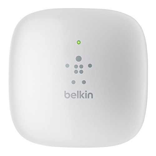 Belkin N300 Wall-Mount Wi-Fi Range Extender with Simple Start (F9K1015)
