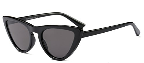 My Shades(TM) - Cateye or High Pointed Sunglasses Celebrity Chic Vintage Inspired Fashion (Black, - Glasses Really Cute
