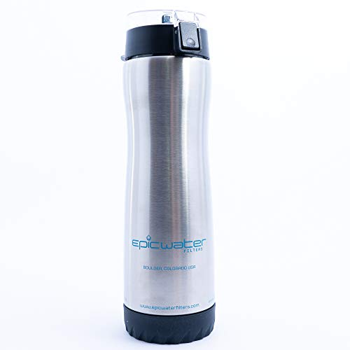 The Outback | Stainless Steel Water Bottle with 1 Urban Filter for Everyday Use | Removes Lead, Fluoride and 99.9% of Tap Water Contaminants | 27 oz | - Contaminants Tap Water