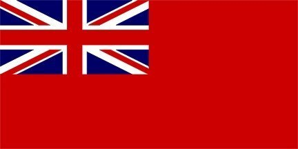 1000 Flags Red Ensign Navy Sleeved Boat and Tree House Flag 45cm x 30cm