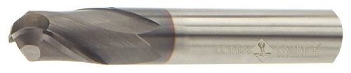 Cobra Carbide 21394 Micro Grain Solid Carbide Long Length General End Mill TiN Coated 2 Flute Pack of 1 30 Degrees Helix Ball Nose End 1-1//2 Cutting Length 6 Length 3//16 Cutting Diameter