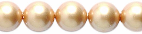 Swarovski 5810 Crystal Round Pearl Beads, 6mm, Vintage Gold, 50-Pack
