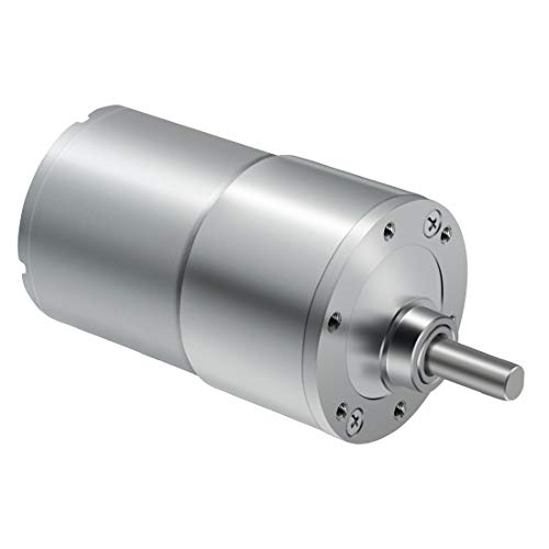 LMioEtool DC Electric Gear Motor, High Torque Reversible Mini Speed Reduction Geared Motor, with Metal Reducer Gearbox - Eccentric Output Shaft 37mm Diameter (12V/120RPM)