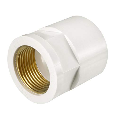 uxcell 32mm Slip x 3/4 PT Female Brass Thread PVC Pipe Fitting Adapter