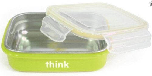thinkbaby stainless steel bento box green buy online in uae baby product products in the. Black Bedroom Furniture Sets. Home Design Ideas