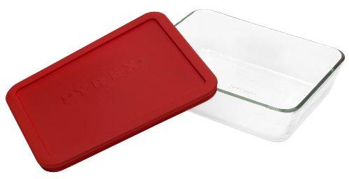 Almacenamiento de alimentos de vidrio rectangular de 6 tazas Pyrex Simply Store