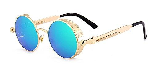 polarisées en vintage soleil de lunettes style Lennon inspirées du retro rond cercle métallique 0E6nw