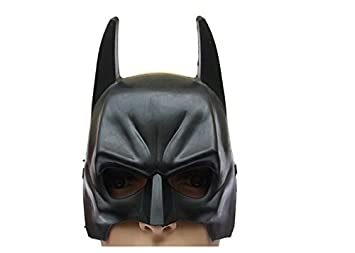 Máscara Batman Marvel Traje Héroe Negro Medio Casco para Accesorios Niños Niños Fiesta Adultos