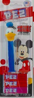 Donald Duck PEZ Dispenser with 3 Candy Refills