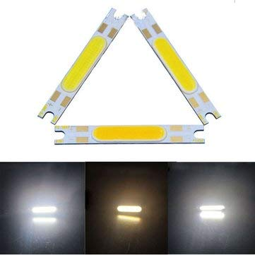 3W DIY LED Chip 50x7mm Strip Bar On Board DC9-12V - Indoor Lighting LED DIY Chips - (Warm White) - 1 x DIY Chip -