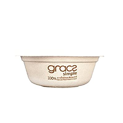 Gracz Biodegradable Bowl 500 ml., Green Products Plate, Made From Natural Plant Fibers, Good for Health and Environment
