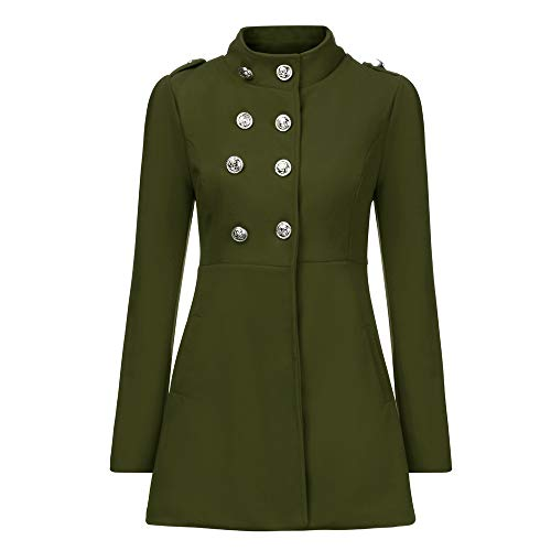 (iDWZA Fashion Women Winter Warm Coat Faux Thick Warm Slim Jacket Outerwear Overcoat(Army Green,US L/CN XL))