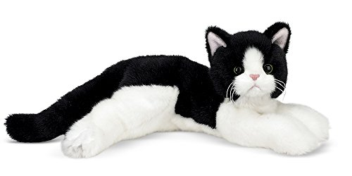 Bearington Collection Plush Stuffed Animal Black and White Tuxedo Cat, Kitten 15