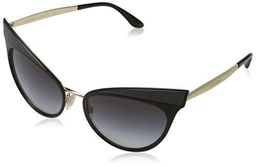 Dolce & Gabbana Women's Grosgrain Cat Eye Sunglasses, Matte Black/Grey, One - Gabbana Cat Dolce Eye Glasses