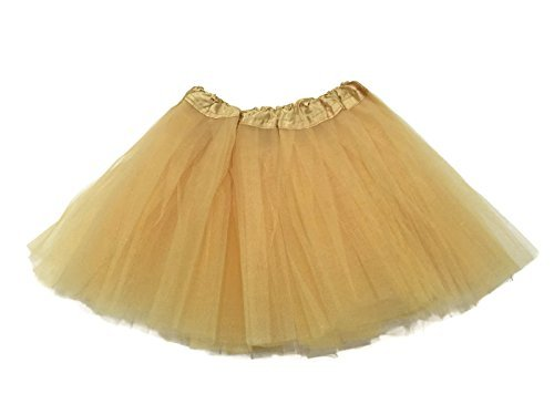 Glitter Fairy Toddler Costumes (Rush Dance Ballerina Girls Dress-Up Princess Fairy Costume Recital Tutu - Gold)