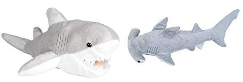 Great White Shark and Hammerhead Shark Plush Set 13