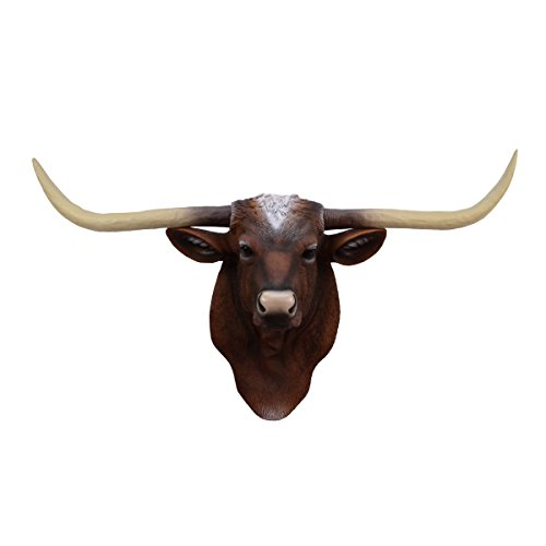 TG,LLC Longhorn Steer Ox Horns Resin Wall Mount Head Fake Taxidermy