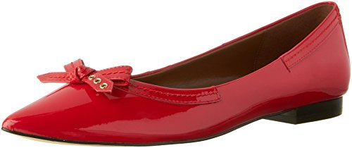 Cole Haan Kvinners Alice Bow Skimmer Spiss Tå Flat Tango Red Patent