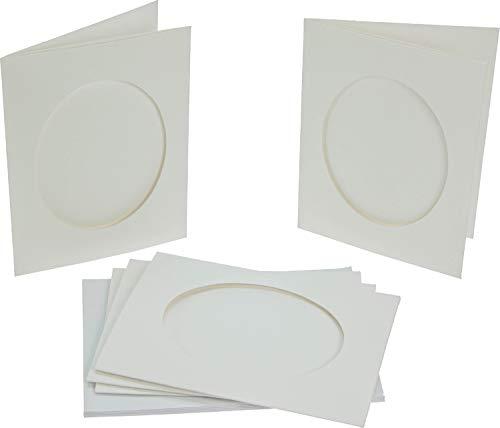 (Frisk Cascade Cards - 2 Fold - Oval C6 - White - Pack of 5)