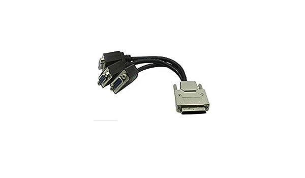 VHDCI(SCSI 68Pin) - Cable VGA Hembra de 3 Puertos para Tarjetas ...