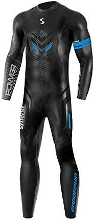 Synergy Triathlon Wetsuit – Men's Synergy Endorphin Full Sleeve Smoothskin Neoprene for Open Water Swimming Ir